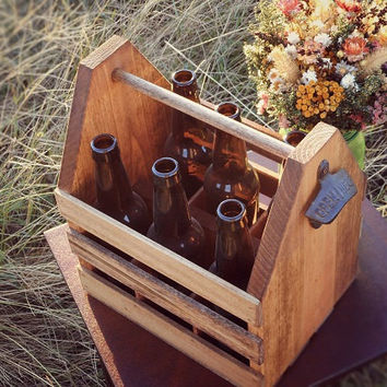 Beer Caddy Beer Carrier Groomsmen Gift Beer Crate