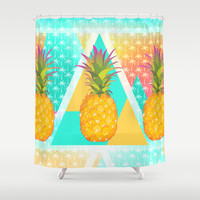 Pineapples Shower Curtain by Ornaart | Society6