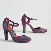 Pinup Fated Statement Heel in Amethyst Sparkle