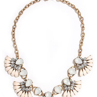 Mist Universe Grey and Ivory Statement Necklace