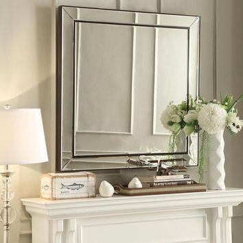 INSPIRE Q Brinkley Black Trim Mirrored Frame Square Accent Wall Mirror | Overstock.com Shopping - The Best Deals on Mirrors