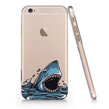 Shark Slim Iphone 6 6S Case, Clear Iphone 6 6S Hard Cover Case For Apple Iphone 6/6S -Emerishop