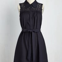 Gazebo Skylight Dress in Navy | Mod Retro Vintage Dresses | ModCloth.com