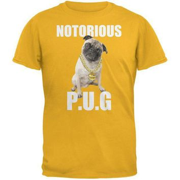 CREYCY8 Notorious PUG Gold Adult T-Shirt