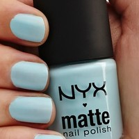 NYX Cosmetics Matte Nail Polish , Sky Blue ,  1.76 Ounce