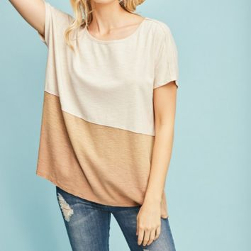 Mocha Color Block Tee