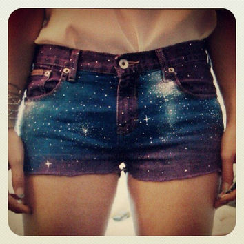 Purple Galaxy Shorts by eringracem on Etsy