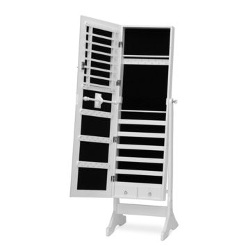 Baxton Studio Ave Wooden dressing mirror with Jewelry armoire | Overstock.com Shopping - The Best Deals on Mirrors