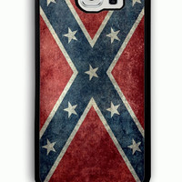 Samsung Galaxy S6 Case - Rubber (TPU) Cover with Confederate Rebel Flag Rubber case Design