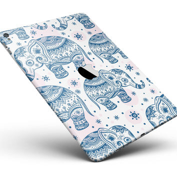 "Ethnic Navy Seamless Aztec Elephant Full Body Skin for the iPad Pro (12.9"" or 9.7"" available)"