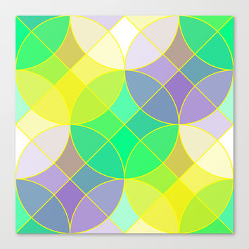 Elegant stained glass tiles mosaic Canvas Print by Natalia Bykova