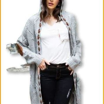 Pieces of Her Grey Cable  Cardigan Fall 2019