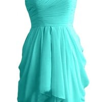 Angel Bride Hot Sale Sweetheart Chiffon Party Homecoming Evening Dresses Short- US Size 10