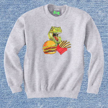 Dino Burger And Fries Sweatshirt