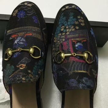 GUCCI Women 2020 New Winter Autumn leather black Print sneaker bee tiger Slides slipper sandals flats shoes boot Best Quality