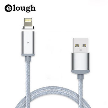 Elough 2.4A Fast Charger USB Magnetic Cable For iPhone 5 5s se 5c 6 6s 6 7 6s Plus i6 Magnet USB Cable Mobile Phone Charge Cable
