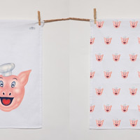 Pig N Whistle Tea-towel Set