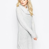 Vila | Vila High Neck Sweater Dress at ASOS