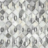 Marquis LUM33 Cowhide Grey Rug | Contemporary Rugs