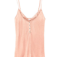 Lace-trim Henley Tank - Victoria's Secret
