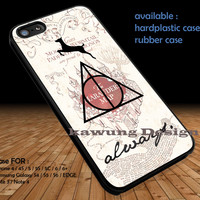 Deathly Hallows Harry Potter Marauder's Map DOP1287 iPhone 6s 6 6s+ 5c 5s Cases Samsung Galaxy s5 s6 Edge+ NOTE 5 4 3 #quote