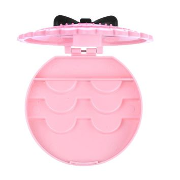 1 Pc Acrylic Cute Bow False Eyelashes Storage Box Makeup Cosmetic Mirror Case Organizer Make Up Beauty Tool