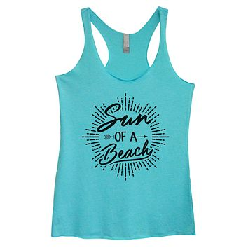 Womens Tri-Blend Tank Top - Sun Of A Beach