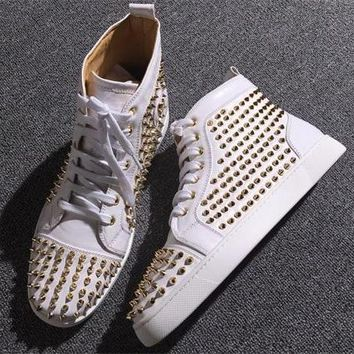Cl Christian Louboutin Louis Spikes Style #1890 Sneakers Fashion Shoes - Best Deal Online