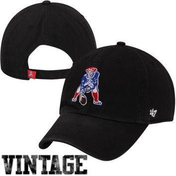 47 Brand New England Patriots Cleanup Throwback Adjustable Hat - Black