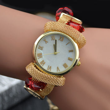 New Arrival Shiny Jewelry Watch Stylish Dial Bangle [8863720391]