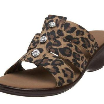 DCCKAB3 Onex Miley Brown Leopard Sandals