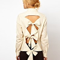 ASOS Shirt With Bow Back Detail at asos.com