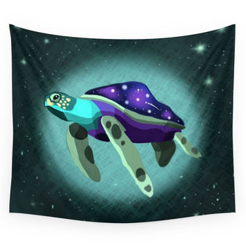 Society6 Space Turtle Wall Tapestry