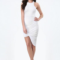 RACERFRONT TWIST HEM DRESS