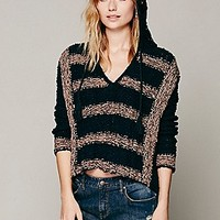 Free People Womens Cali Love Hoodie Sweater - Black, S