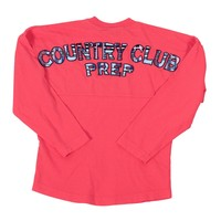 Childs Country Club Prep Jersey in Coral and Madras by Spirit Jersey - FINAL SALE