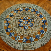 Stars In The Sky - Round Table Topper Crochet Art Decor by RSS Designs In Fiber
