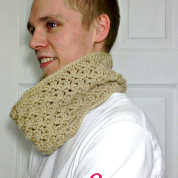 Crochet Lace Fashion Accessory Holiday Scarf Cowl Instant Download Pattern
