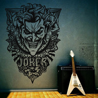 Wall Decor Vinyl Sticker Room Decal Joker Comics Face Mask Batman Evil Villain (s3)