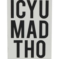 Married To The Mob ICYU Mad Tho Silver Foil Sticker