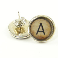 Letter Earrings - Personalized Initial Jewelry Monogram Stud Post Alphabet Jewelry