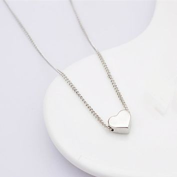 N219 Minimalist Clavicle Necklaces Women Bijoux Tiny Heart LOVE Necklaces Dainty Fashion Jewelry Beach Summer 2017 Collares