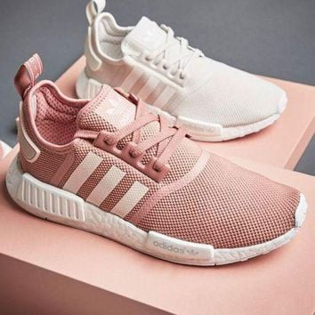 "Women ""Adidas"" Fashion Trending Pink/Beige Leisure Running Sports Shoes"