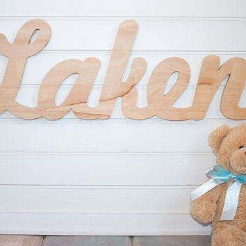 Baby Name Plaque Nursery Sign Diy Large Unpainted Personalized Wall Hanging