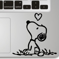 Snoopy Love- Apple Macbook Front Decal Sticker Humor Handmade Partial Art Skin Protector