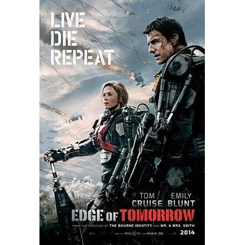 Edge Of Tomorrow poster Metal Sign Wall Art 8in x 12in