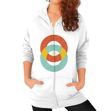 Double Vision Zip Hoodie (on woman)