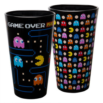 Pacman - Game Over Graphic Pint Glass 2-Pack Set