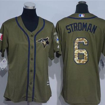 Women's Toronto Blue Jays #6 Marcus Stroman Cool Base Player Jersey