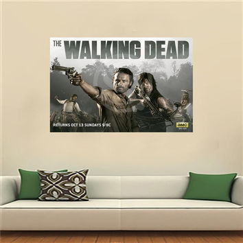 The Walking Dead Poster Artist Canvas Painting